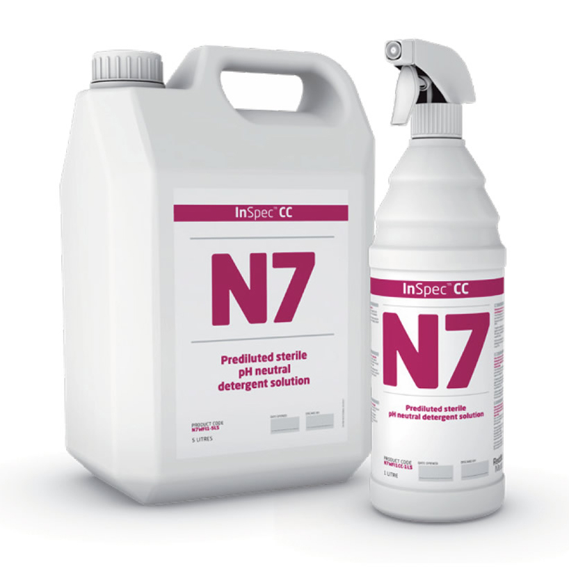 InSpec N7 - Low Toxicology, PH Neutral Detergent Solution