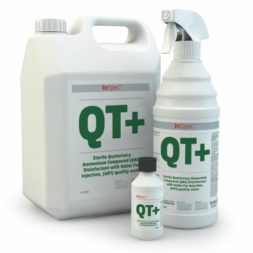 InSpec QT+ - Sterile Quaternary, Ammonium, Disinfectant Cleaner